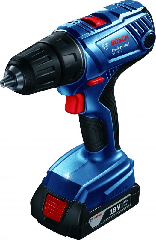 картинка Дрель-шуруповерт аккумуляторная Bosch GSR 180-Li (0.601.9F8.120) от магазина Одежда+