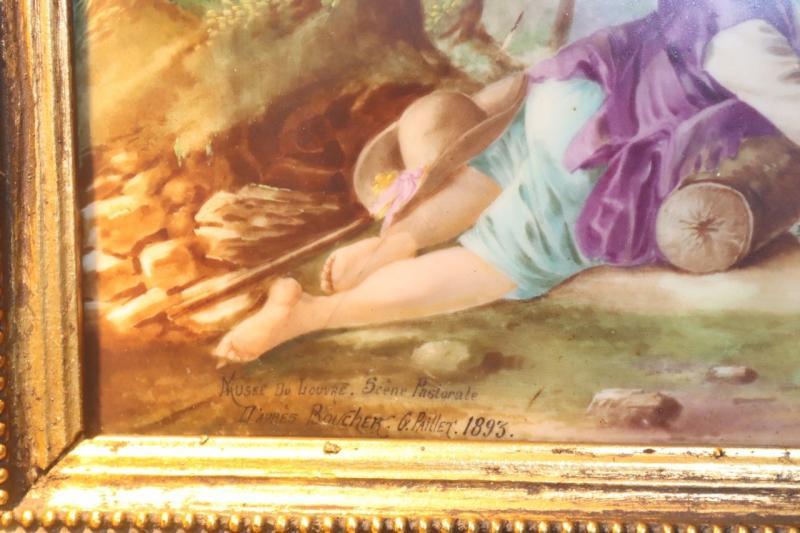 """картинка Антикварная картина в золоченой раме """"Пасторальная сцена"""" от магазина Одежда+"""
