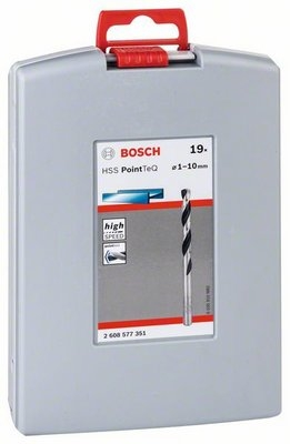 картинка Набор сверл Bosch 2608577351, 19 предметов, по металлу от магазина Одежда+