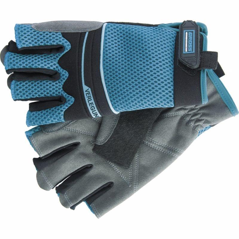 картинка Перчатки комбинированные облегченные, открытые пальцы AKTIV, L, GROSS 90316 от магазина Одежда+