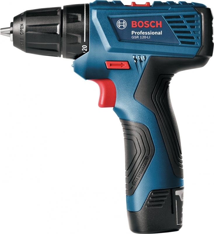 картинка Дрель-шуруповерт аккумуляторная Bosch GSR 120-LI (0.601.9F7.001) от магазина Одежда+