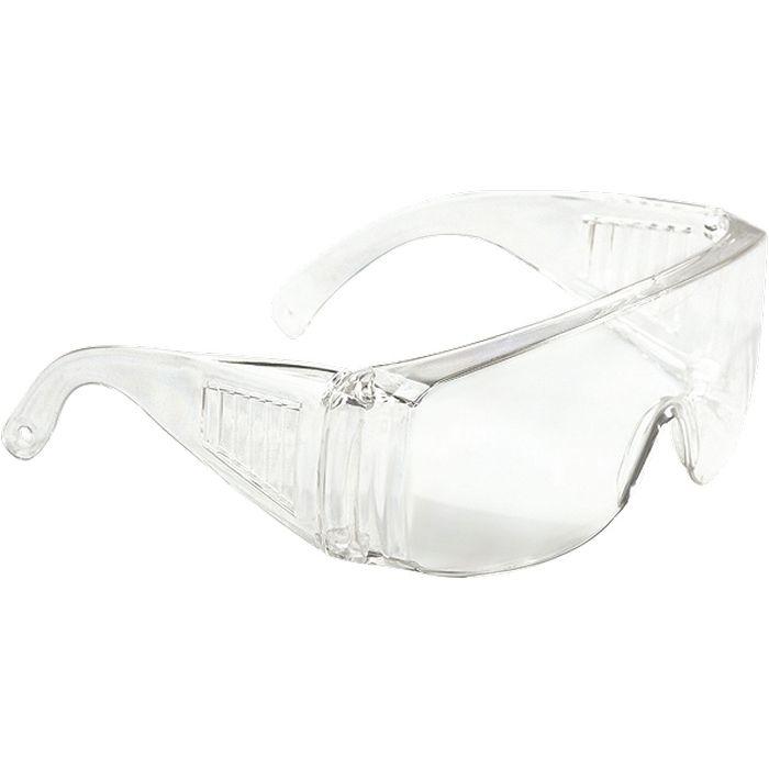 картинка Очки защитные открытого типа, прозрачные, ударопрочный поликарбонат, СИБРТЕХ 89155 от магазина Одежда+