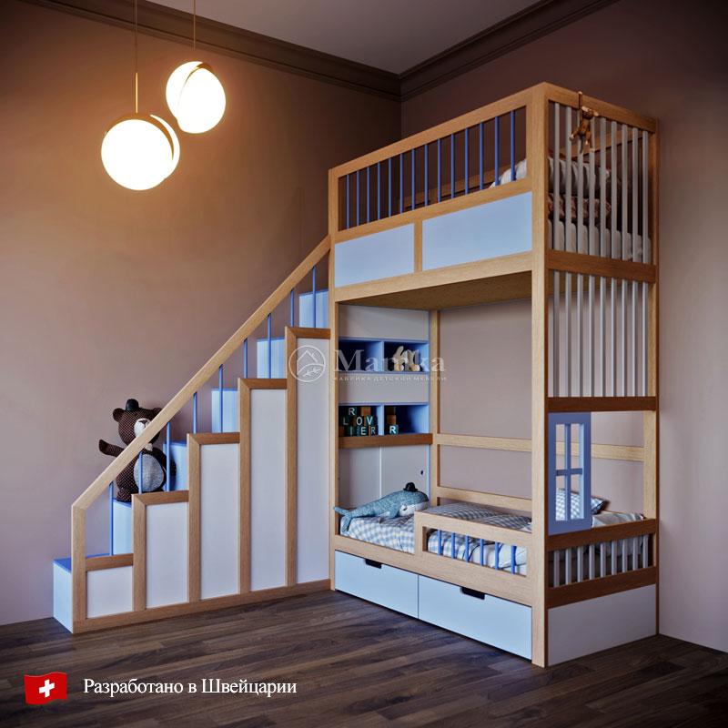 Детская кровать Блю тауэр - фабрика мебели Mamka