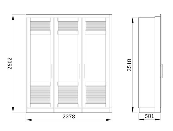 Встраиваемый шкаф Эскейп - фабрика мебели Mamka