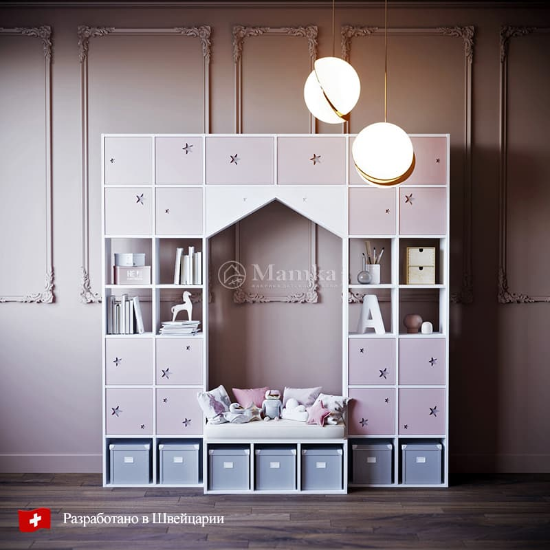 Детский стеллаж Юнивёрс - фабрика мебели Mamka