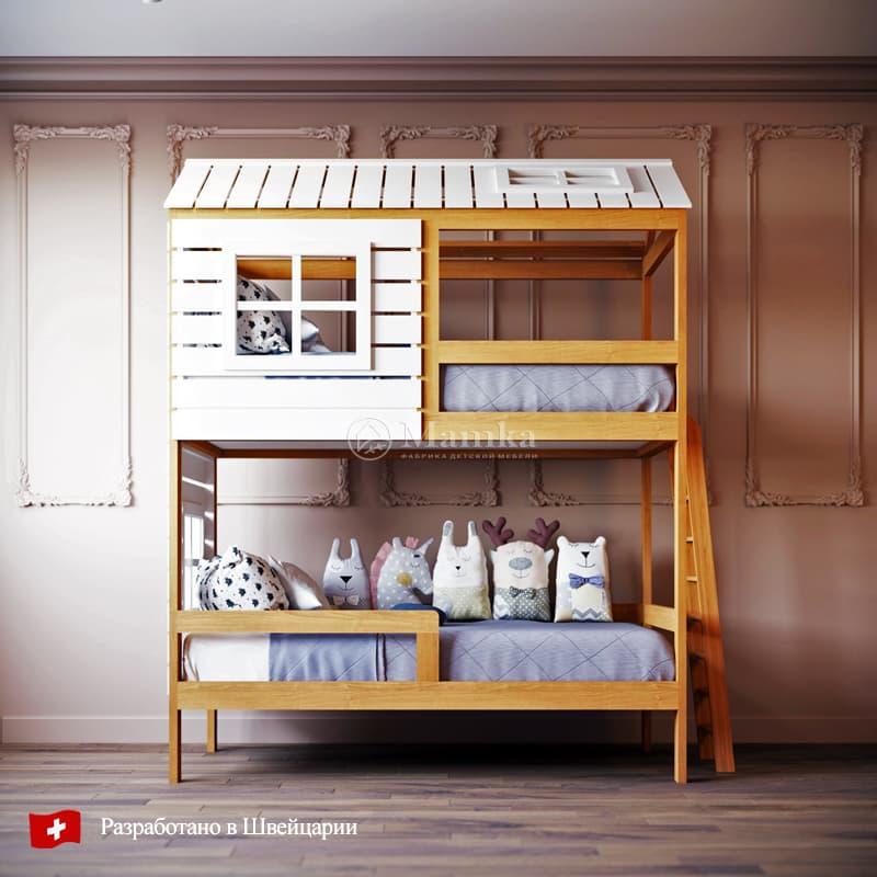 Детская кровать домик Твин - фабрика мебели Mamka