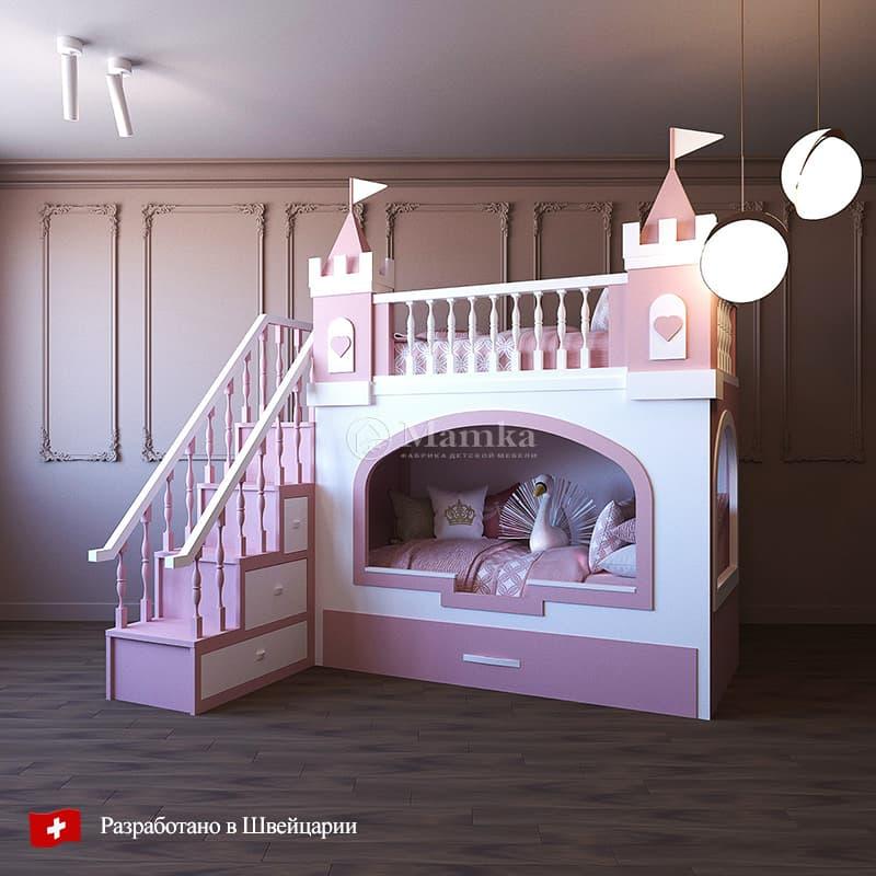 Детская кровать Пинки Форт - фабрика мебели Mamka