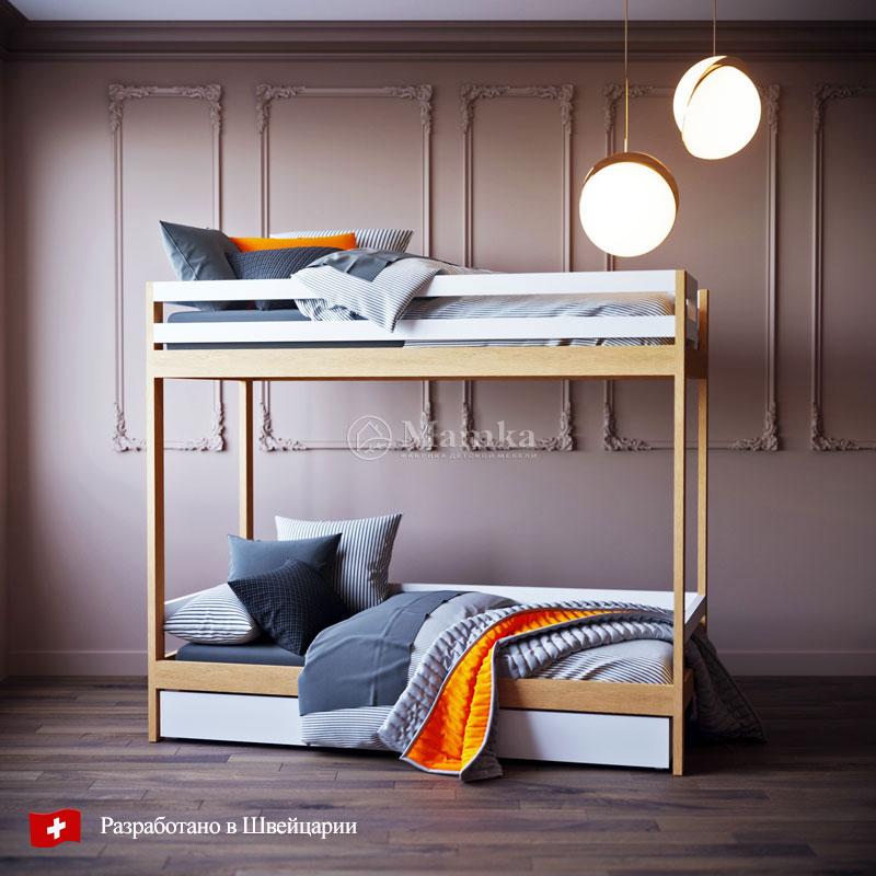 Детская двухъярусная кровать Джой - фабрика мебели Mamka