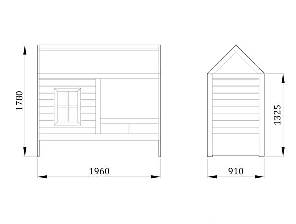 Детская кровать домик Дом Звездочета - фабрика мебели Mamka