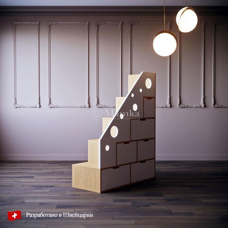 Детский комод лестница Хоул - фабрика мебели Mamka
