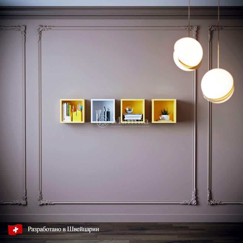 Полки в детскую Пиксель комплект - фабрика мебели Mamka