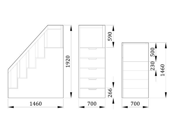 Детский комод лестница Треппе - фабрика мебели Mamka