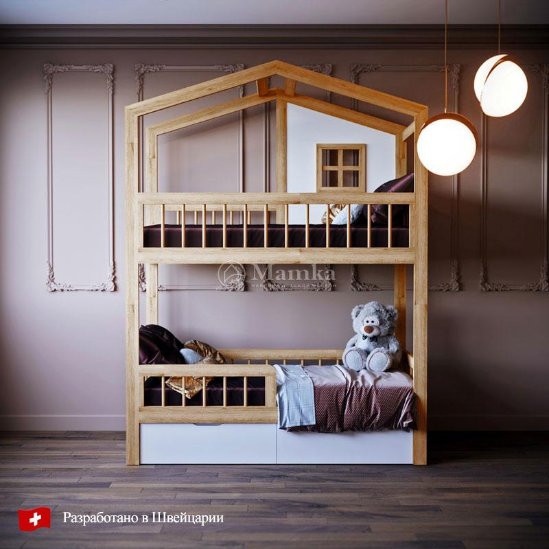 Двухъярусная детская кровать Кинг Эр - фабрика мебели Mamka