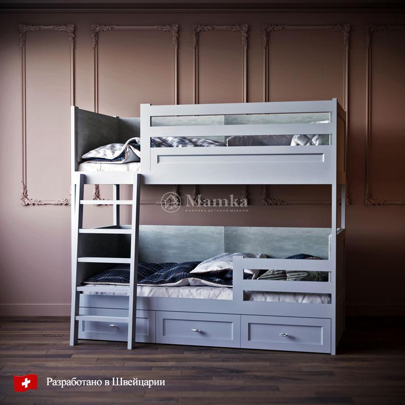 Детская кровать Дабл Стрикс - фабрика мебели Mamka