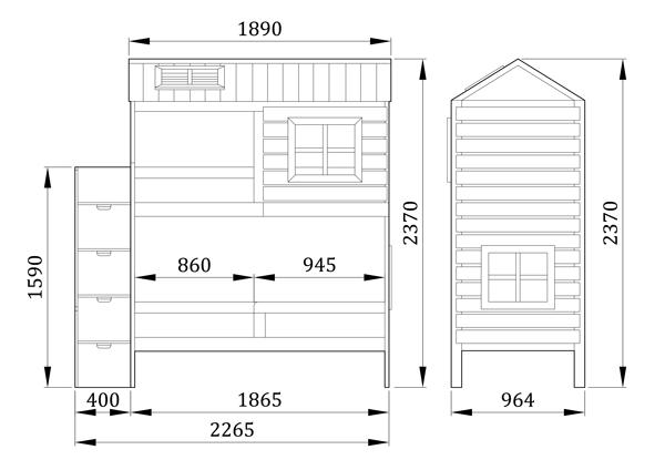 Двухъярусная кровать Твин Прованс - фабрика мебели Mamka