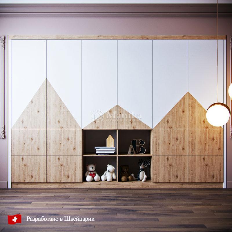 Детский шкаф Горы - фабрика мебели Mamka