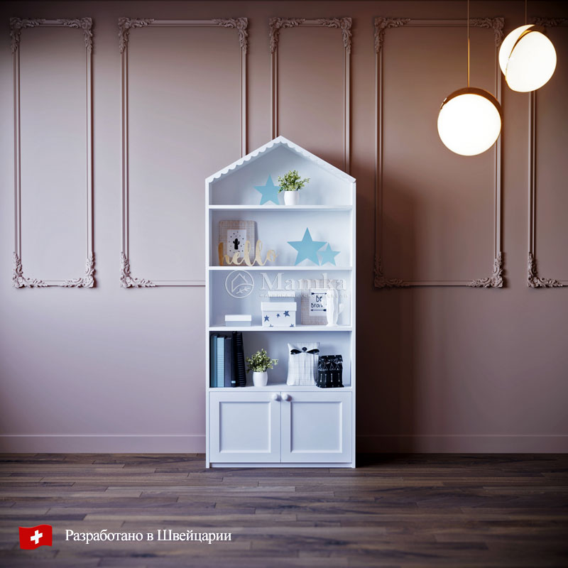 Детский стеллаж домик Вайти - фабрика мебели Mamka