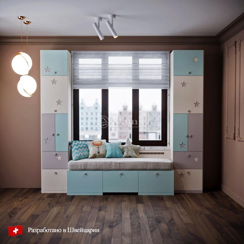 Детский стеллаж Астра - фабрика мебели Mamka
