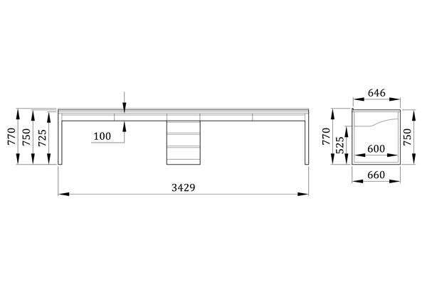 Детский стол Дуэт - фабрика мебели Mamka