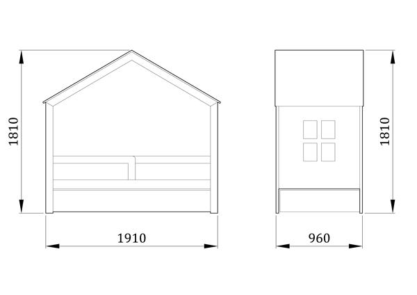 Детская кровать домик Дом Мага - фабрика мебели Mamka