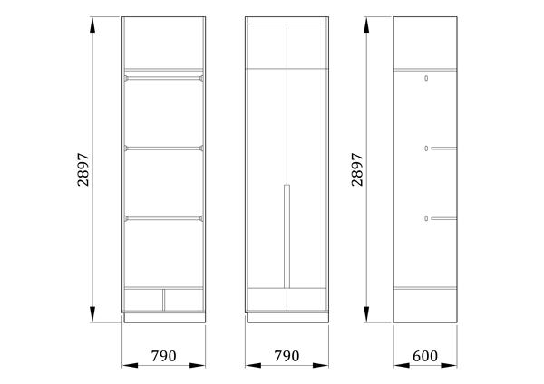 Детский шкаф Слот - фабрика мебели Mamka