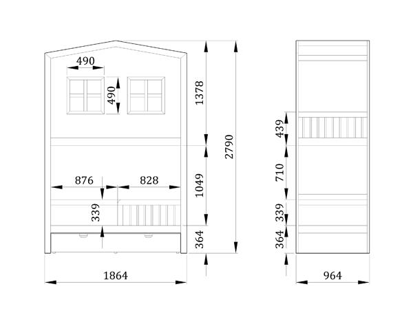 Детская кровать Дом на дереве - фабрика мебели Mamka