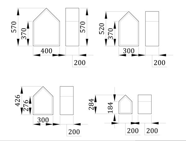 Полки в детскую Домики - фабрика мебели Mamka