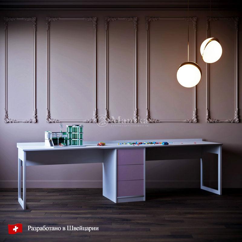 Детский стол Розовый свет - фабрика мебели Mamka