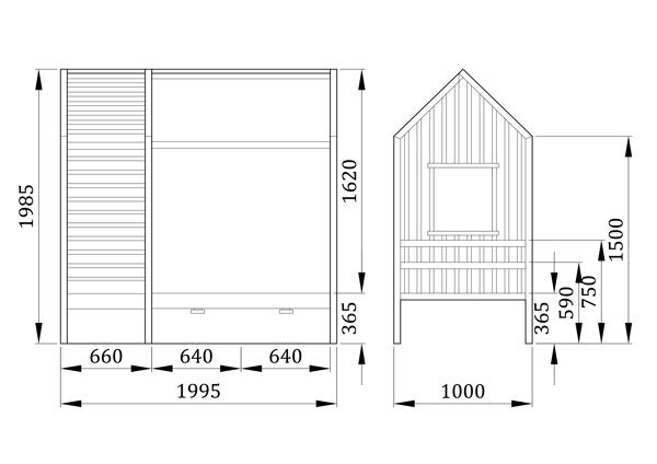 Детская кровать домик Нуваро - фабрика мебели Mamka