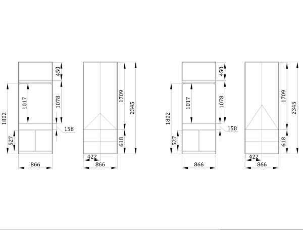 Детский шкаф Блу Маунт - фабрика мебели Mamka