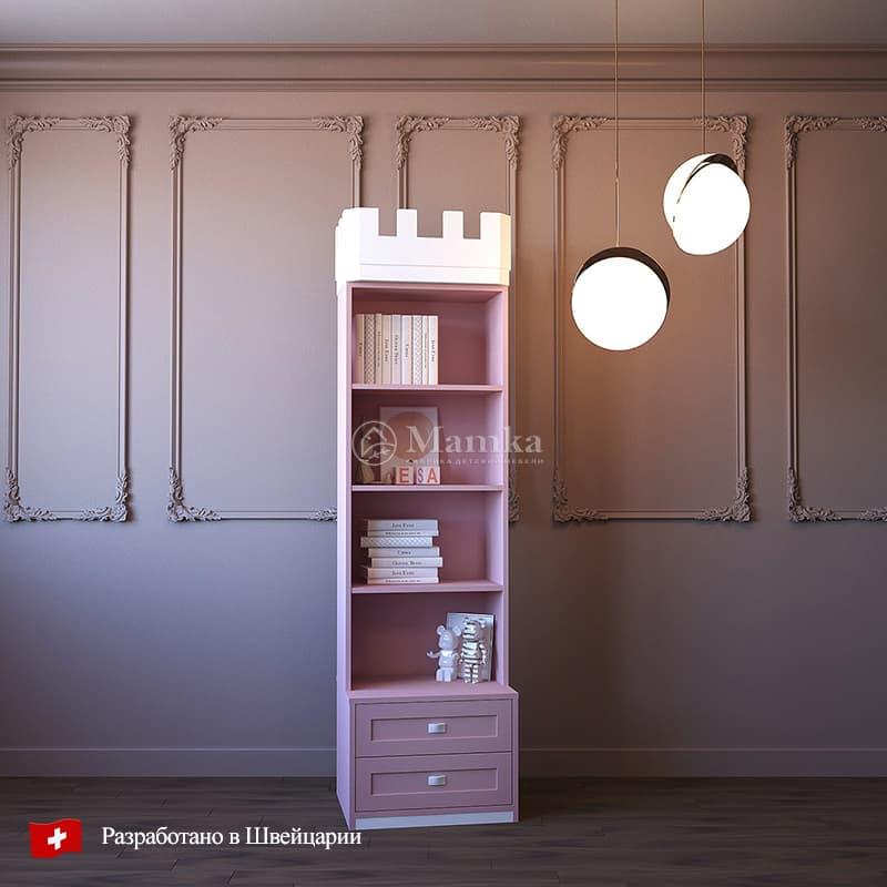 Детский стеллаж Пинки Тауэр - фабрика мебели Mamka