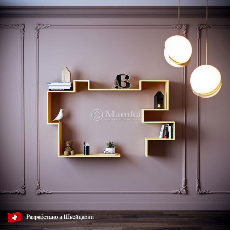 Полка в детскую Змейка - фабрика мебели Mamka
