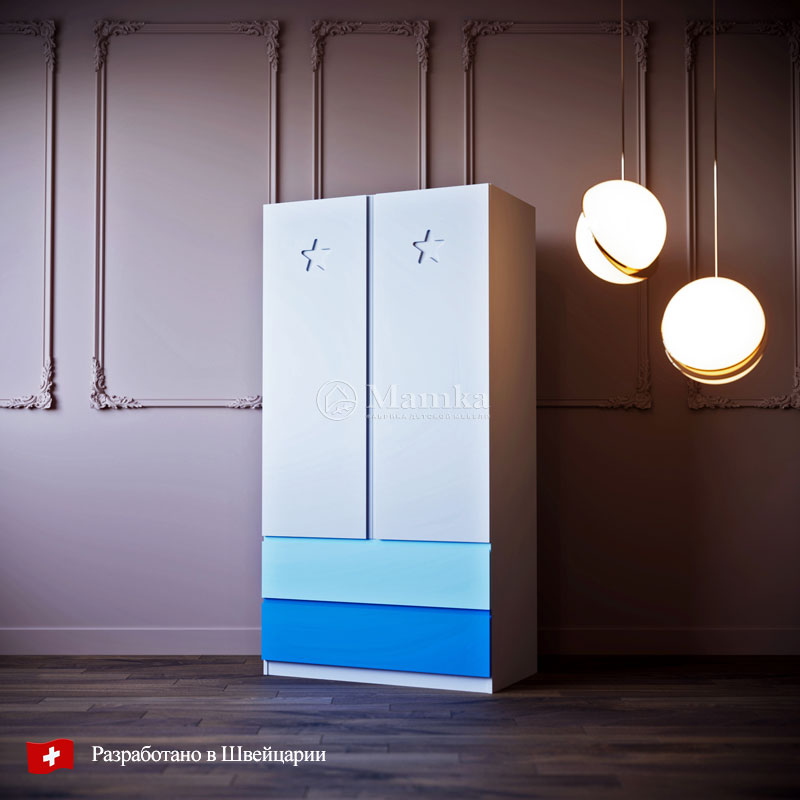 Детский шкаф Брейв - фабрика мебели Mamka
