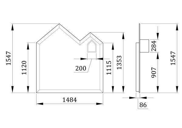 Детская меловая доска Хаус - фабрика мебели Mamka