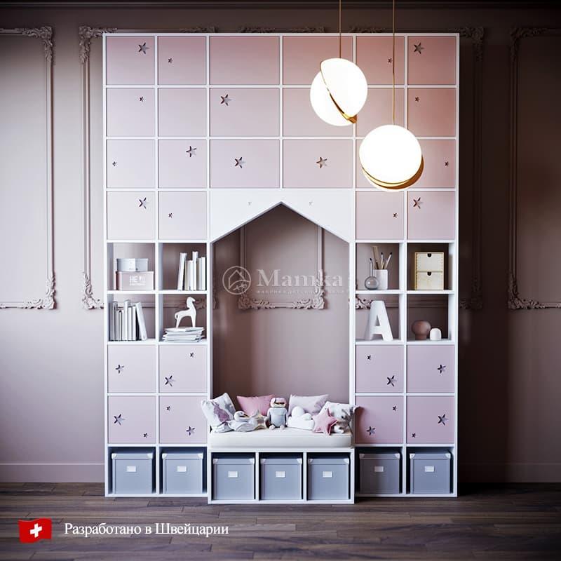 Детский стеллаж Спейс - фабрика мебели Mamka