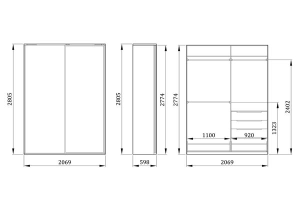 Детский шкаф-купе Нарния - фабрика мебели Mamka