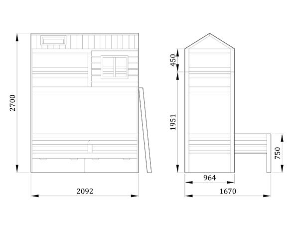Детская кровать Шале - фабрика мебели Mamka