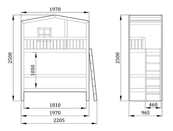 Детская кровать Альказар - фабрика мебели Mamka