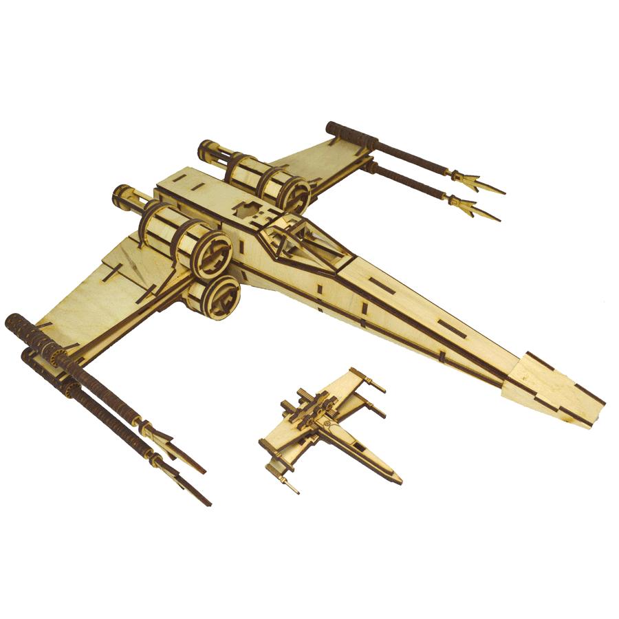 """картинка Корабль """"Звёздные войны"""" X-Wing, арт. Ф00090 - подарки и декор из дерева - подереву.рф"""