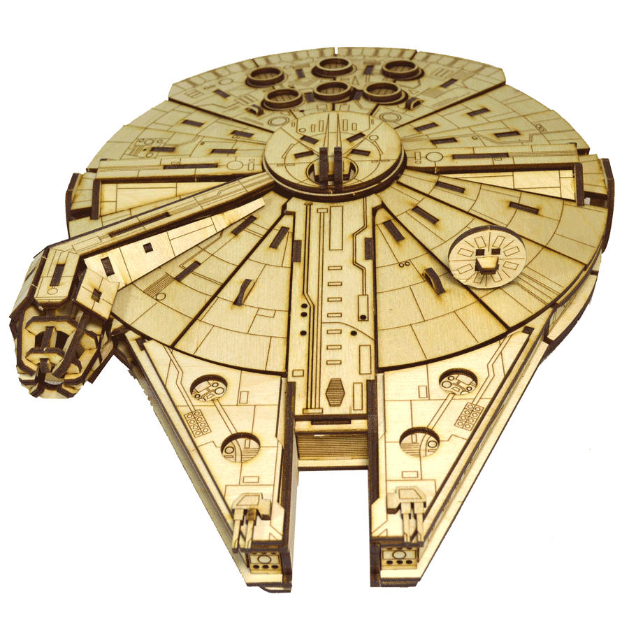 """картинка Корабль """"Звёздные войны"""" Сокол Тысячелетия, арт. Ф00088 - подарки и декор из дерева - подереву.рф"""