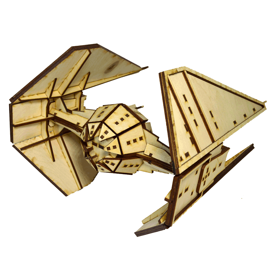 """картинка Корабль """"Звёздные войны"""" TIE Interceptor, арт. Ф00089 - подарки и декор из дерева - подереву.рф"""