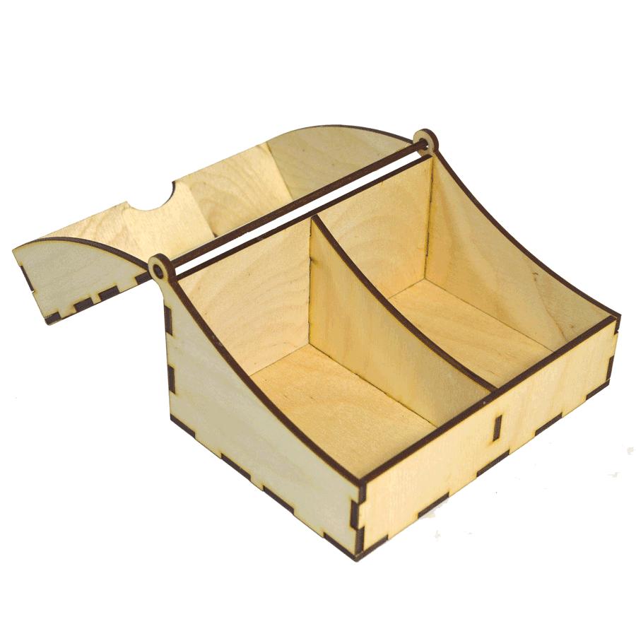 картинка Коробочка под чай, арт. Ф00080 - подарки и декор из дерева - подереву.рф