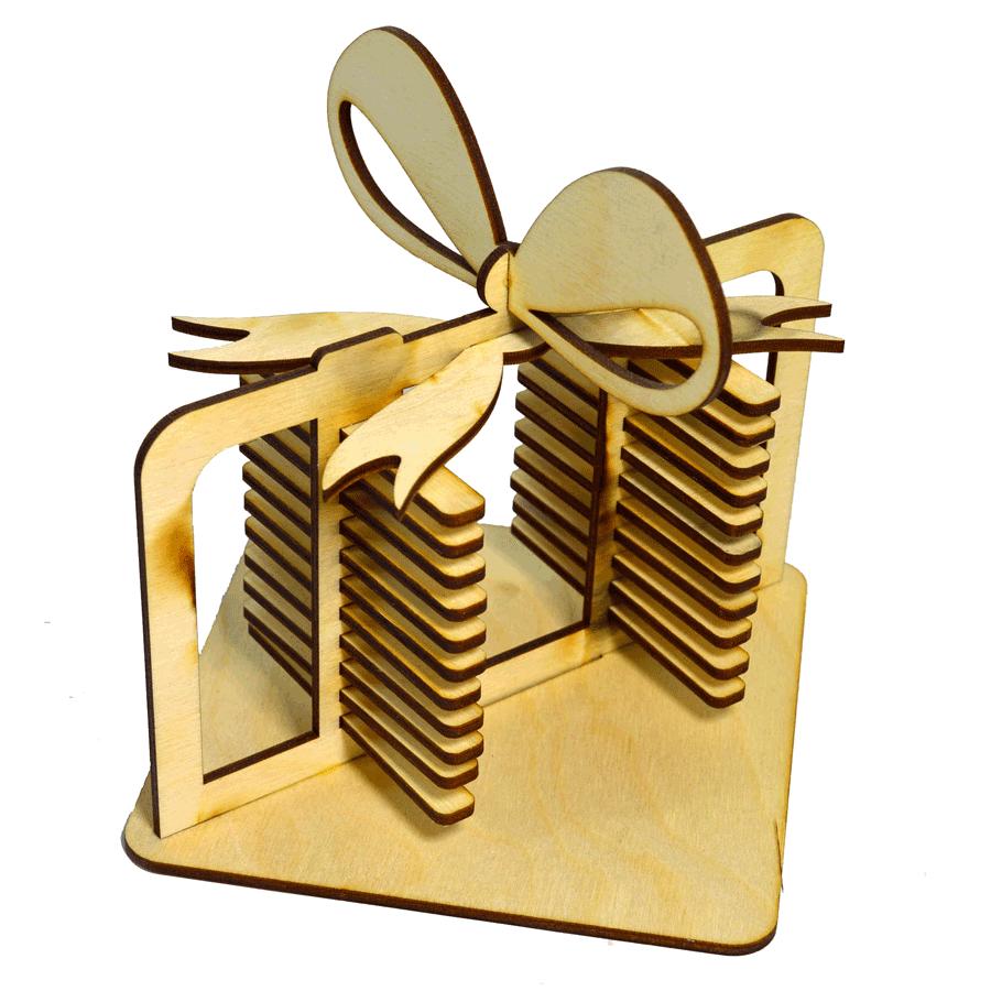 картинка Подставка под салфетки, арт. Ф00079 - подарки и декор из дерева - подереву.рф
