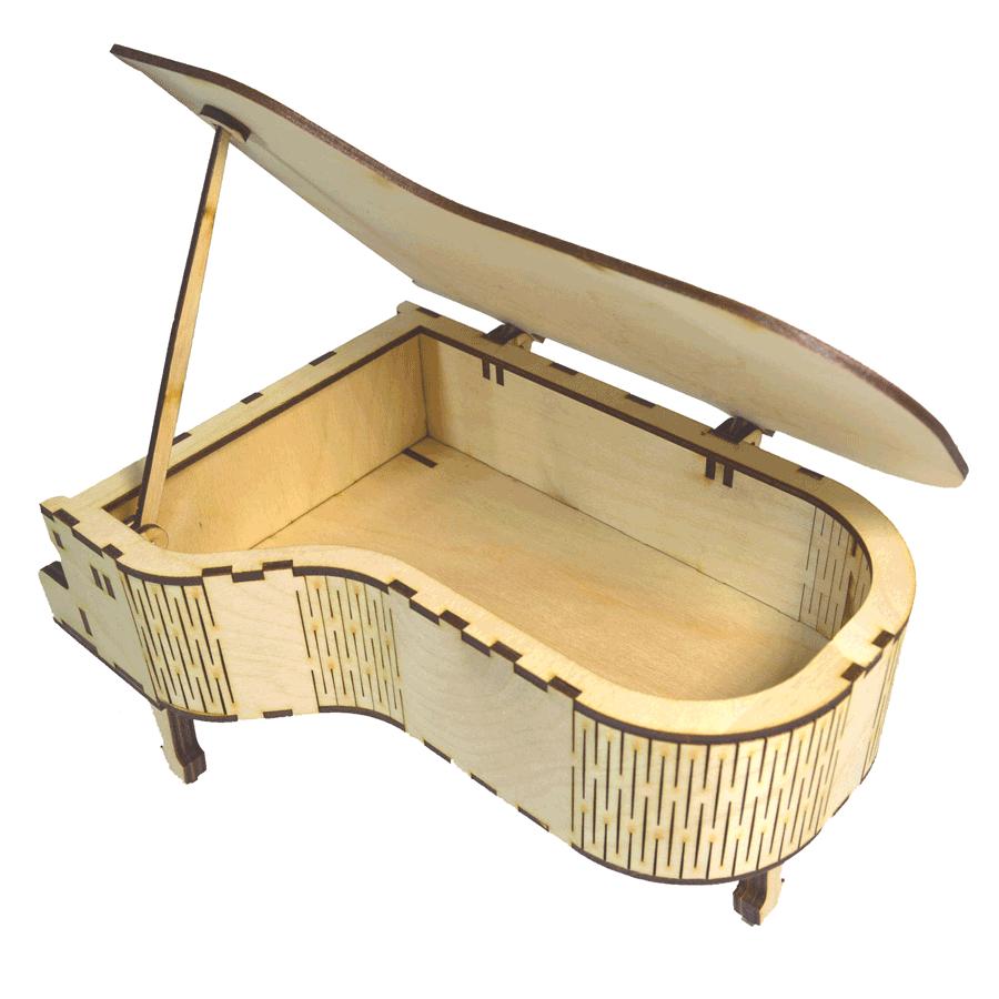 """картинка Шкатулка """"Рояль"""", арт. Ф00042 - подарки и декор из дерева - подереву.рф"""