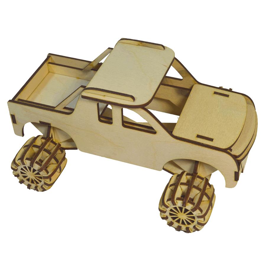 картинка Модель внедорожника, арт. Ф00048 - подарки и декор из дерева - подереву.рф