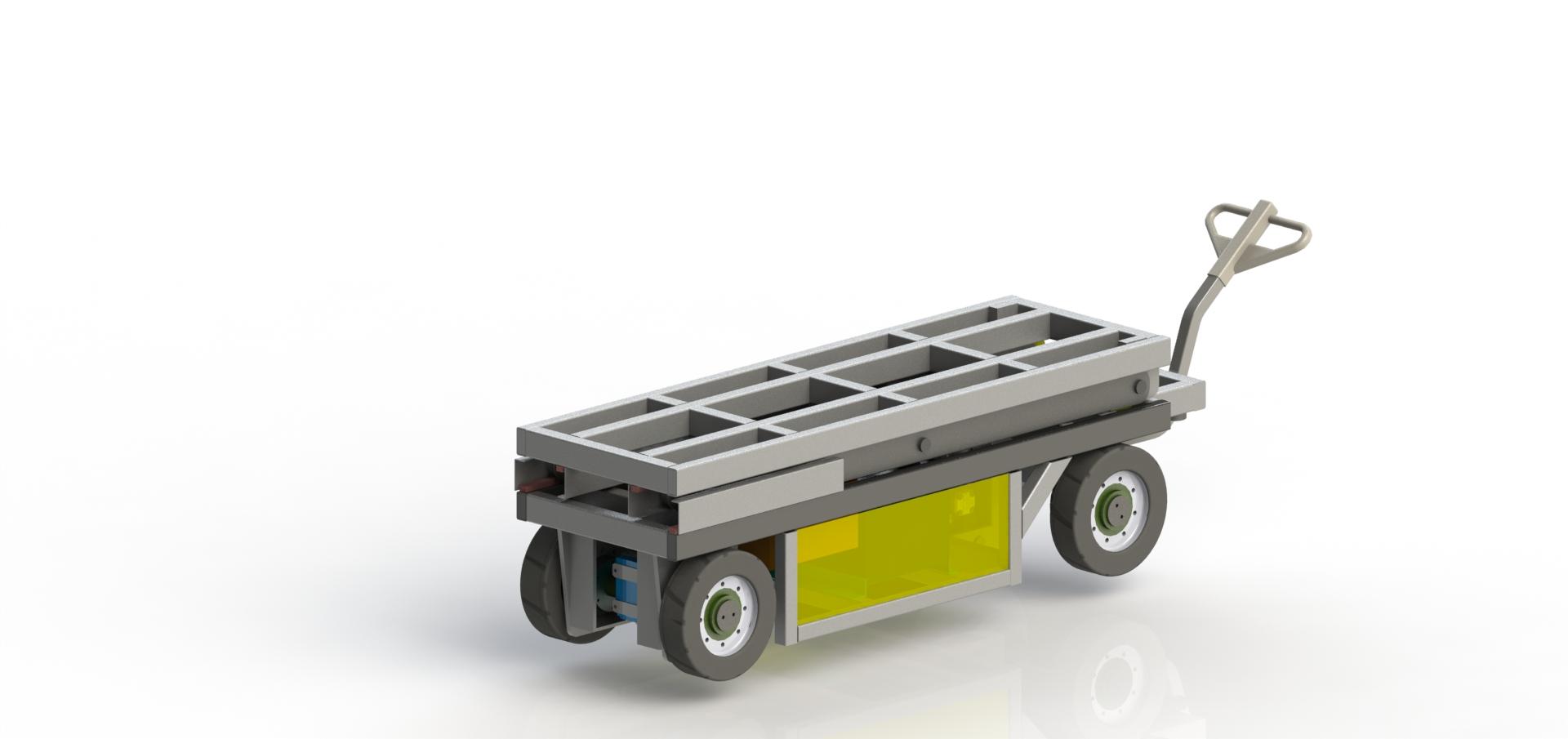 Электротележка с подъемным столом МЕ-1.3-0.3