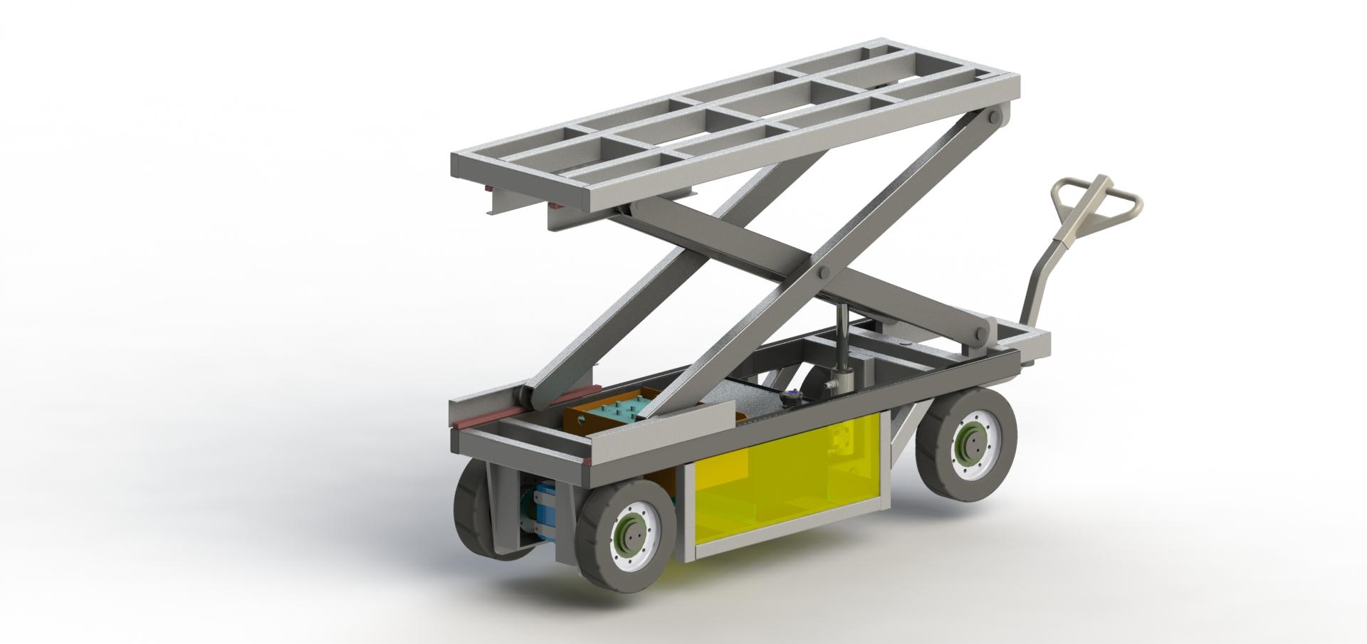 Электротележка с подъемным столом МЕ-3-0.8