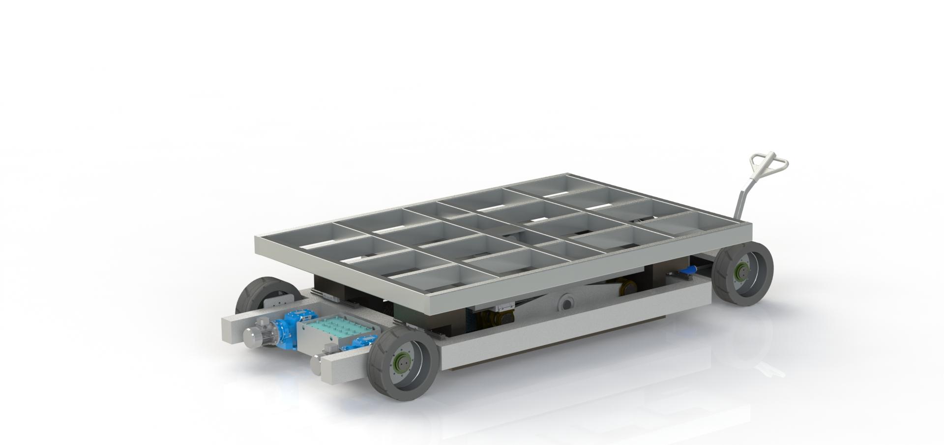 Электротележка с подъемным столом МЕ-6.5-0.8