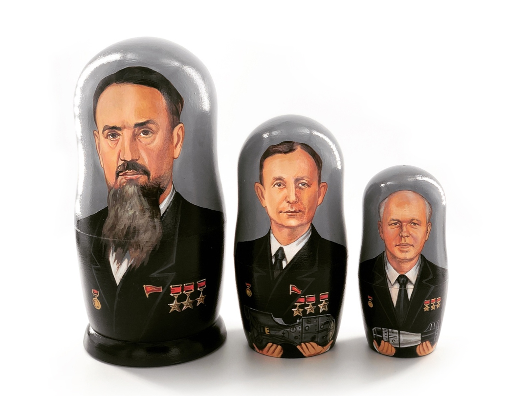 "картинка Матрешка - тройка ""Отцы - основатели"""