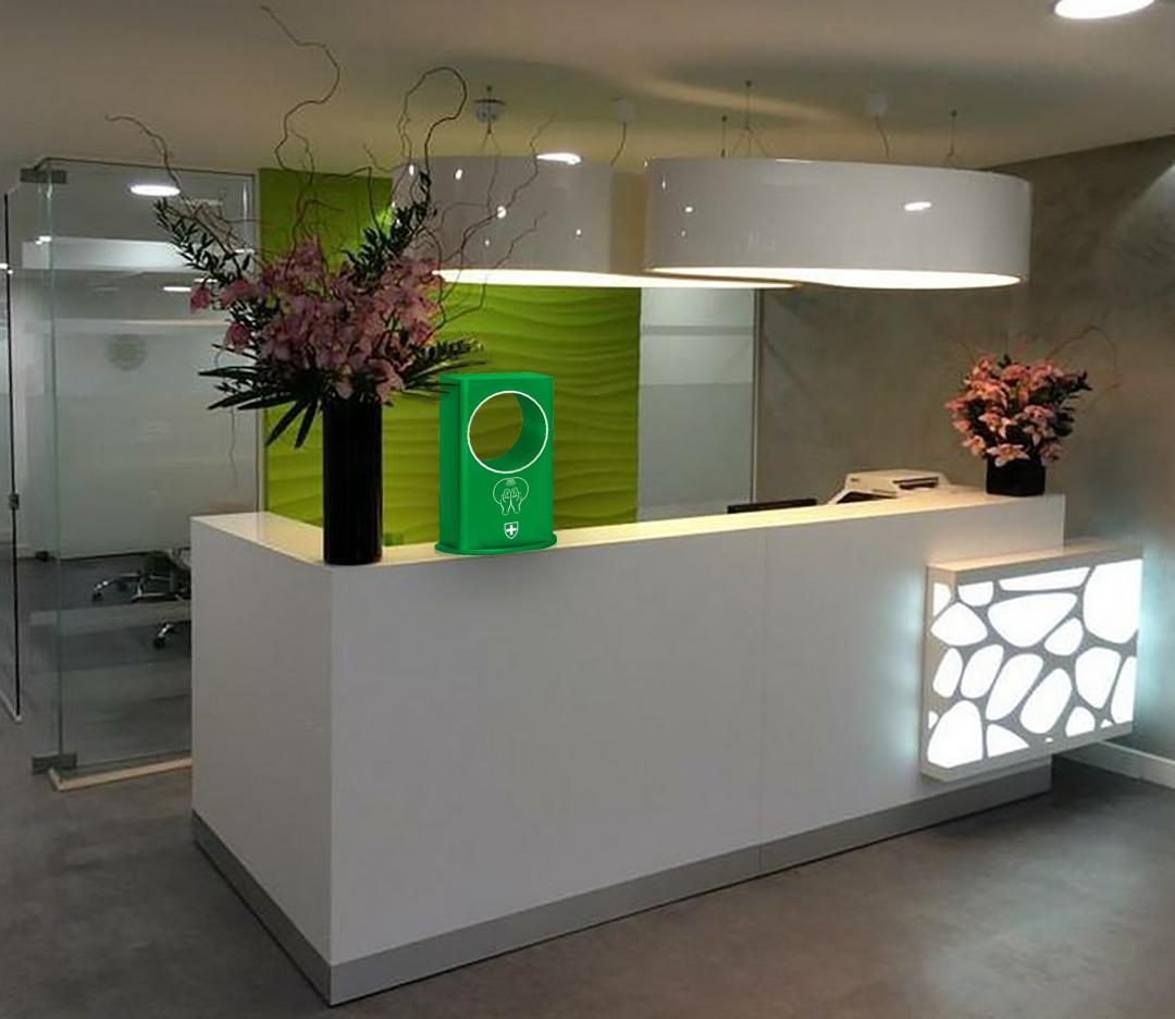 Автоматический дезинфектор Freehub, настольный, зеленый, для офиса